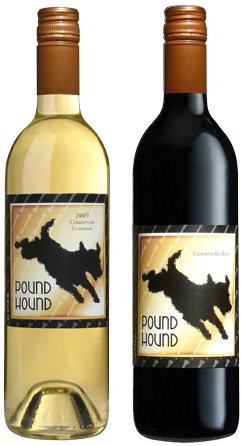 Pound Hound Red wine and Pound Hound White wine